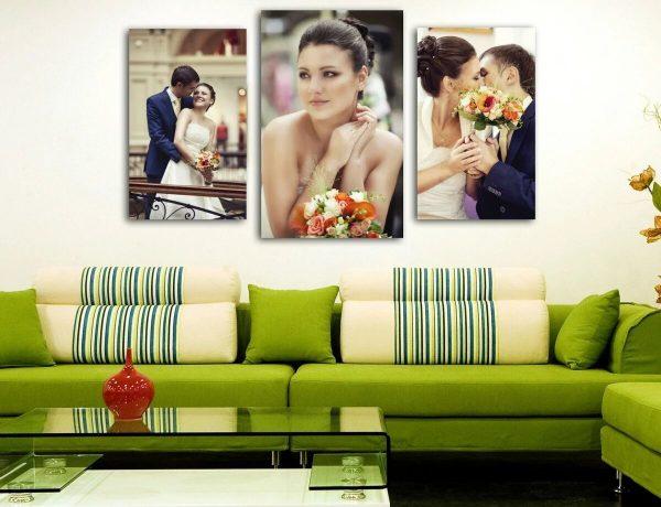 Фотопостеры на стене