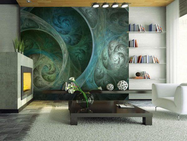 Фреска абстракция на стене