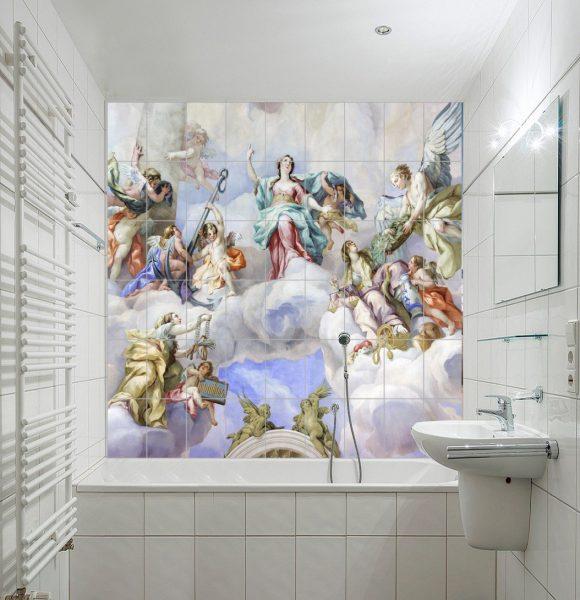 Фото фрески на плитке
