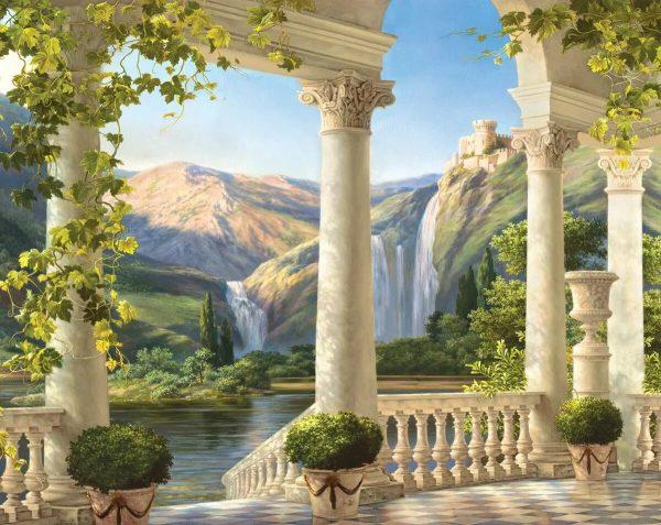 Фреска с колонами