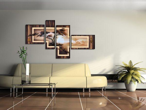 модульная картина на стене