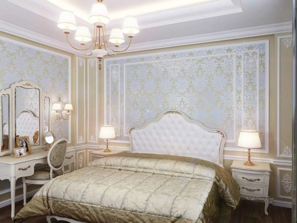 Фото молдингов в спальне