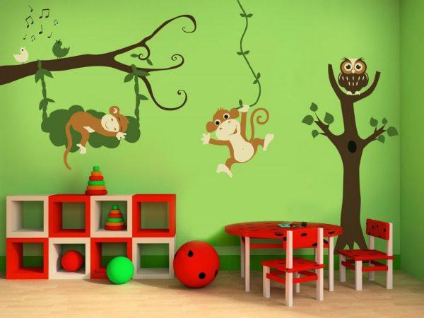 Наклейки в детской комнате