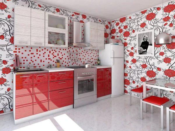 Фото обоев на кухне