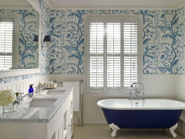 Фото обоев в ванной