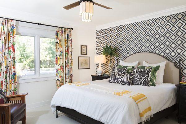Орнамент в интерьере спальни