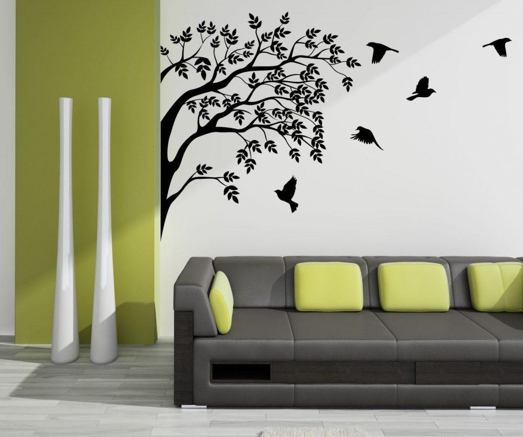 рисунки на стенах в квартире фото идеи грязи