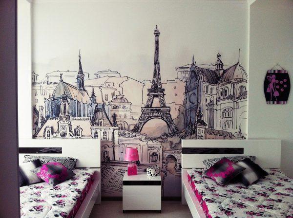 Рисунок в спальне подростка