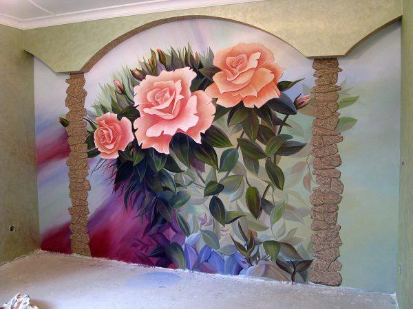 Роспись стен акриловыми красками