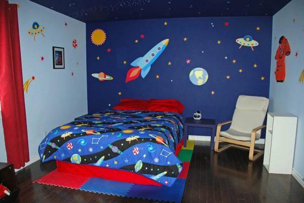 Роспись стен космос