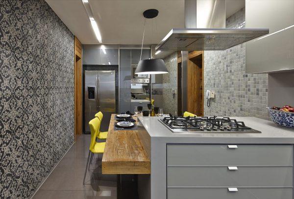 Фото серых стен на кухне