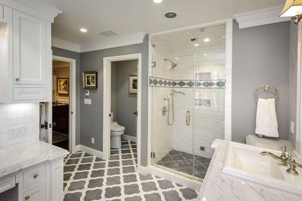 Фото серых стен в ванной