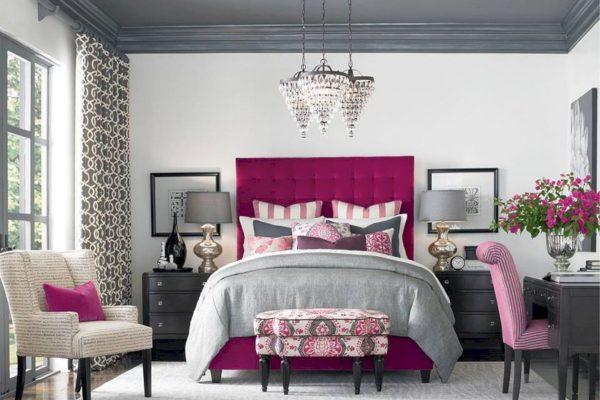 Серый и розовый цвет в интерьере