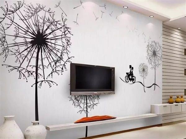 Фото стены с рисунком