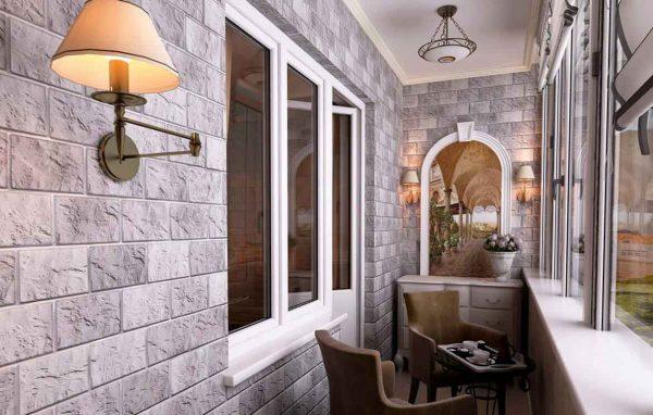 Фото стен на балконе