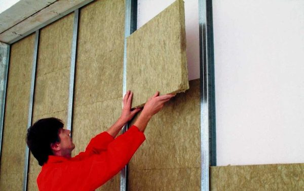 Теплоизоляция стен внутри