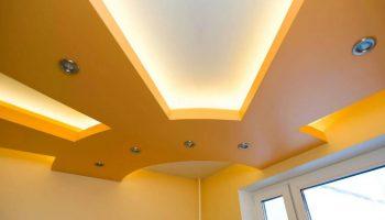 Гипсокартонный, двухуровневый потолок — как сделать своими руками пошаговое руководство