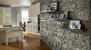 Варианты отделки декора стен под камень в интерьере