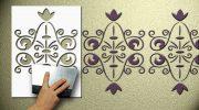 Как сделать трафарет для стен своими руками — пошаговая инструкция