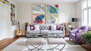 Оформление интерьера стен квартиры серым цветом