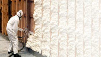 Использование и нанесение пенного утеплителя для стен