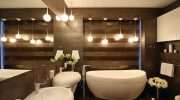Как установить оригинальное освещение в ванной