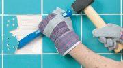 Как аккуратно заменить плитку со сколом на новую