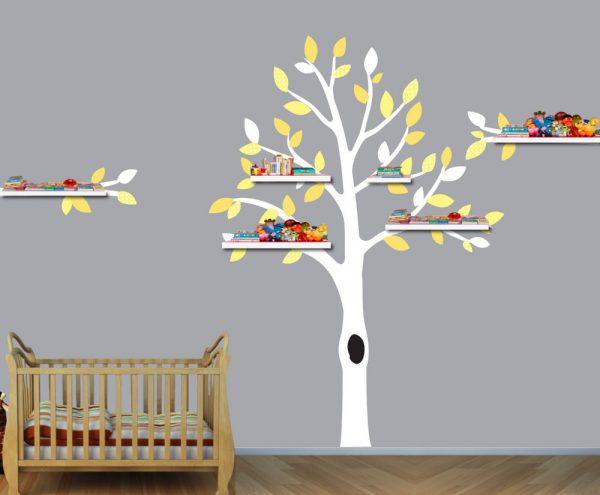 Дерево с полочками
