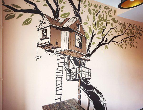 Фото нарисованного дерева