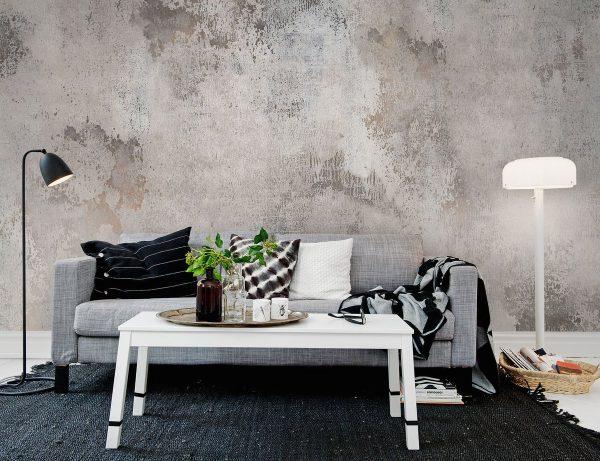 Окрашенная бетонная стена