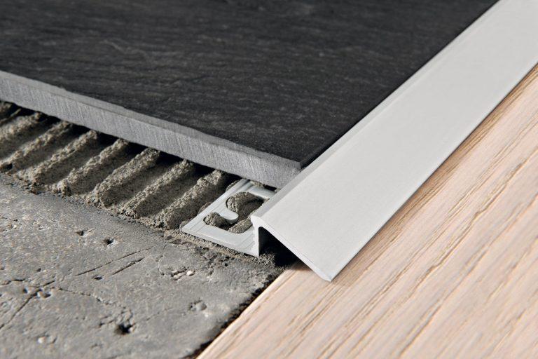 как установить алюминиевый порожек