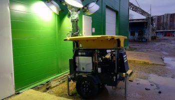 Как организовать освещение для строителей, если на участке не подведено электричество