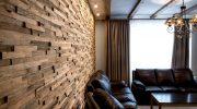 Использование деревянных 3D панелей для отделки стен
