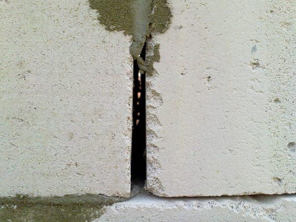 Трещины в газобетоне