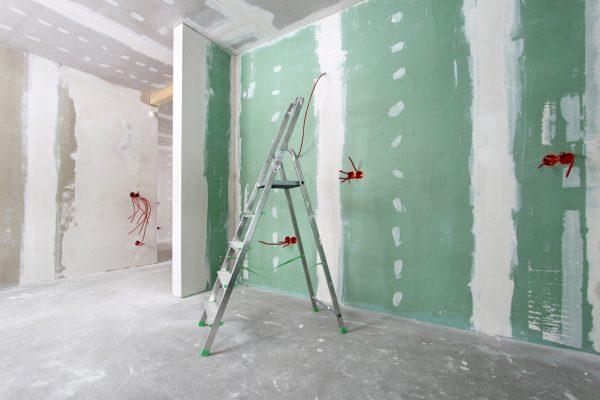 Фото гипсокартона на стенах