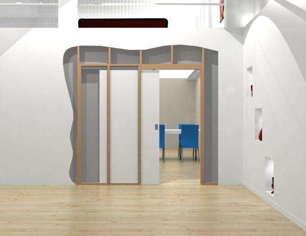 Раздвижные двери в стену