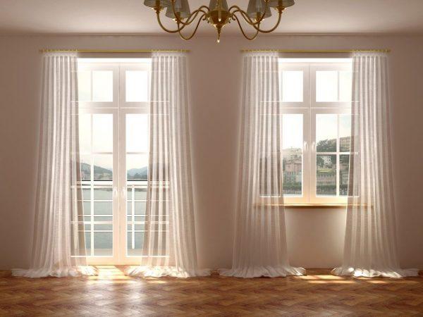 Фото штор на окнах