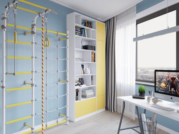 Шведская стенка в комнате