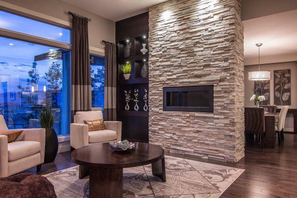 Декоративный камень в интерьере квартиры