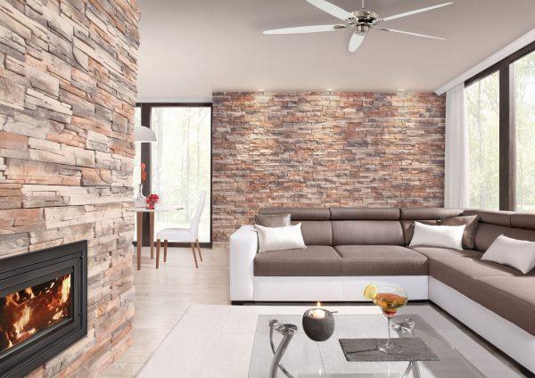 Стены с декоративным камнем