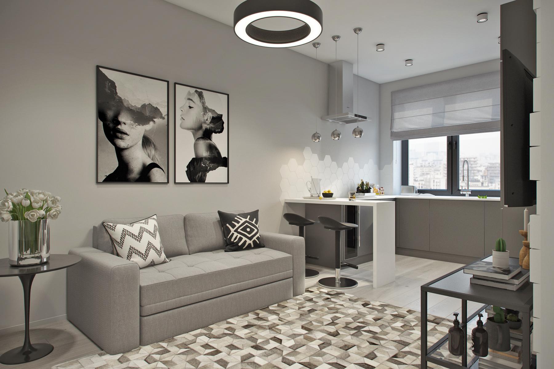 6 тонкостей дизайна интерьера для квартиры-студии