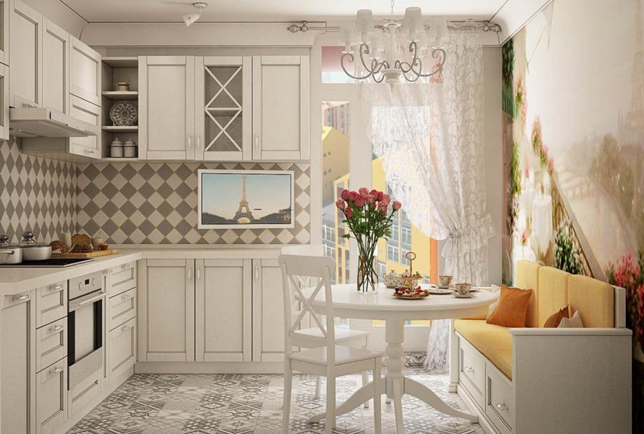 Диваны на кухню в стиле прованс