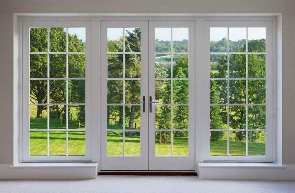 Окна во французском стиле для загородного дома