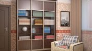 Использование шкафов-купе для хранения коллекций и книг