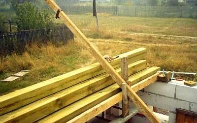 Дом из пенобетона. Начало строительства. Перекрытия