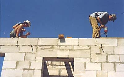 Дом из пенобетона. Начало строительства. Мезонин