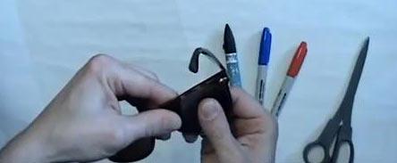 как сделать очки 3d
