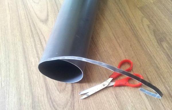 режем пвх трубу