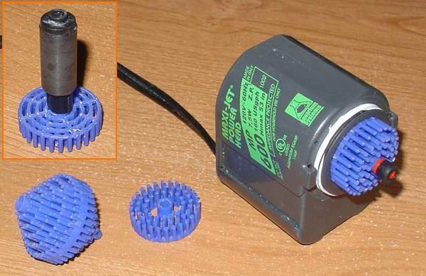 игольчатый ротор помпы из биошара