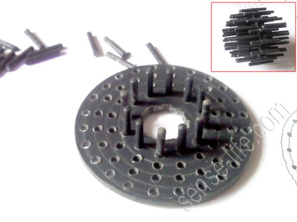 переделка помпы для скиммера - изготовление игольчатого ротора